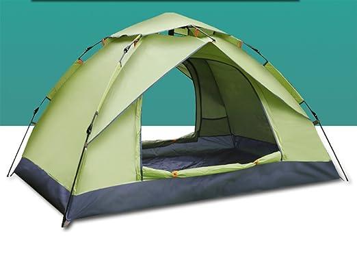1a7771ac79c7 QGFL Tienda de Campaña Totalmente automática para 3 - 4 - 4 Personas,  Impermeable, Parasol para Exteriores, Camping, Turismo, Artículos, Verde:  Amazon.es: ...