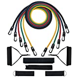 [Upgraded Version] Resistance Bands,Patec NRTL Certified Resistance Bands Set with Upgraded Band Guard & Stable Hooks,Door Anchor,Ankle Straps,Workout Guide,Carrying Pouch for Weight Lifting,Yoga.Pilates,Home Gyms,Rehabilitative Exercises