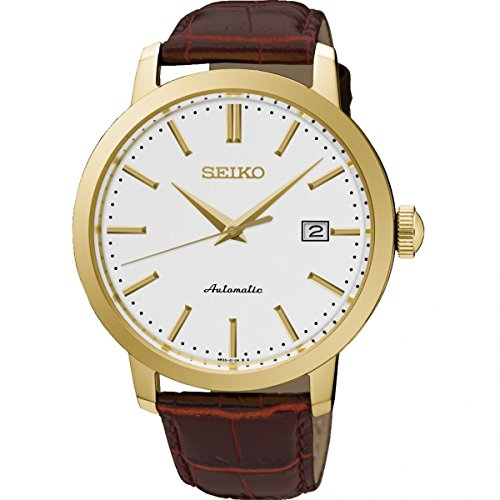 Seiko Automatic Gents Gold Plated Strap Watch