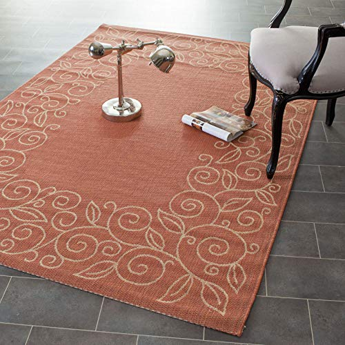 Safavieh Courtyard Collection CY5139A Terracotta and Beige