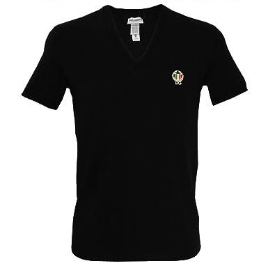 c6ece9e3e07d95 Dolce   Gabbana Sport Crest Deep V-Neck T-shirt Homme, Noir Large ...