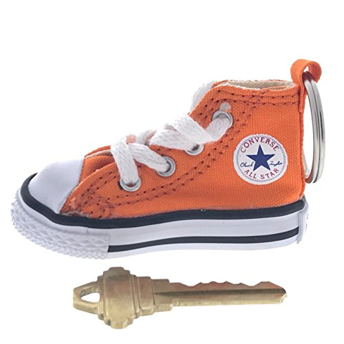 All Star Key Tag - Converse All Star Chuck Taylor Sneaker Shoe Car Key Ring Keychain (Orange)