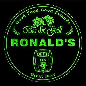 4 x ccpr0021-g Ronald Bar y parrilla de cerveza 3D prácticos de costa de la bebida