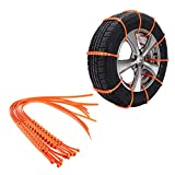 Pulusi 10PCS AntiSkid Slip Emergency Snow Tyre Tire Security Chains Car Belting Straps