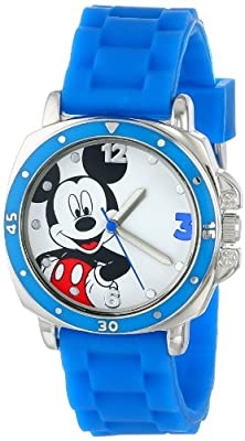 Disney Kids' MK1266 Watch with Blue Rubber Band from Accutime Watch Corp.