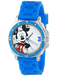 Disney Kids 'mk1266reloj con banda de goma color azul