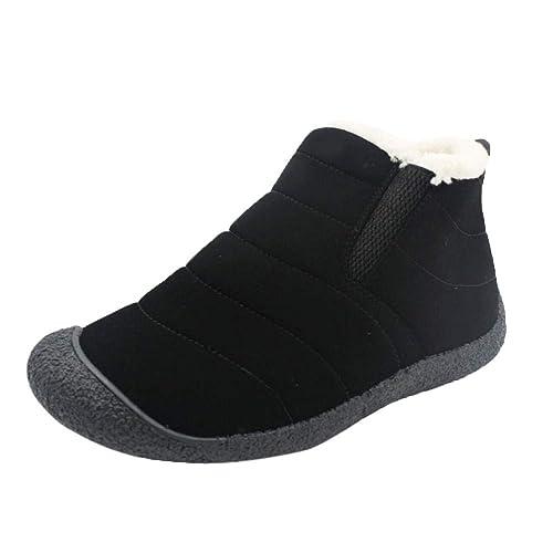 Logobeing Botines Hombre Zapatos Hombre Zapatos de Invierno Botas para la Nieve Parte Inferior Antideslizante Mantener Las Botas Calientes: Amazon.es: ...