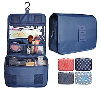 Portable Waterproof Travel Cosmetic Bag - Lady Color Portable Travel Makeup Kit Organizer Bathroom Storage Cosmetic Bag Carry Case Toiletry Bag with Hanging Hook
