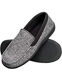 Men's Memory Foam Indoor/Outdoor Moccasin Slipper Shoe with Fresh IQ
