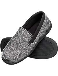 852fac78842 Men s Slippers House Shoes Moccasin Comfort Memory Foam Indoor Outdoor  Fresh IQ