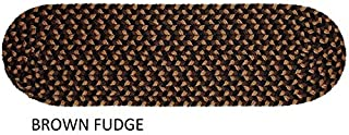 """product image for Rhody Rug Jamestown Indoor/Outdoor Braided Rug Brown Fudge 8"""" x 28"""" Oval 8 inch x 28 inch Oval"""