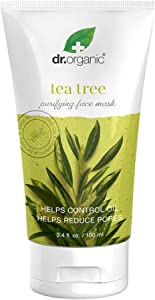 Dr.Organic Purifying Charcoal Face Mask with Organic Tea Tree Oil, 3.4 fl oz