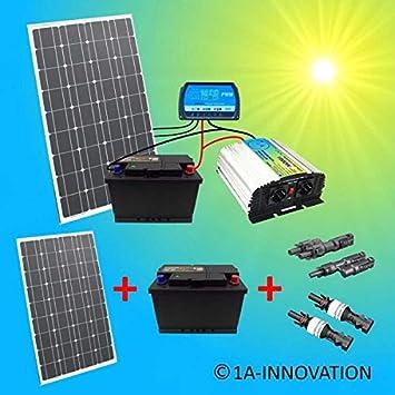 Photovoltaik-hausanlagen Erneuerbare Energie Komplette Solaranlage 230v TÜv 100w Solarmodul Spannungswandler Gartenhaus Watt