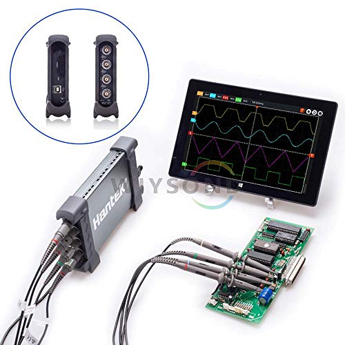 Hantek 6000BD Series Professional PC USB Digital Storage Virtual Oscilloscope 70MHz/100MHz/200MHz/250MHz Bandwidth 4 CH 1GSa/s (70 MHz)