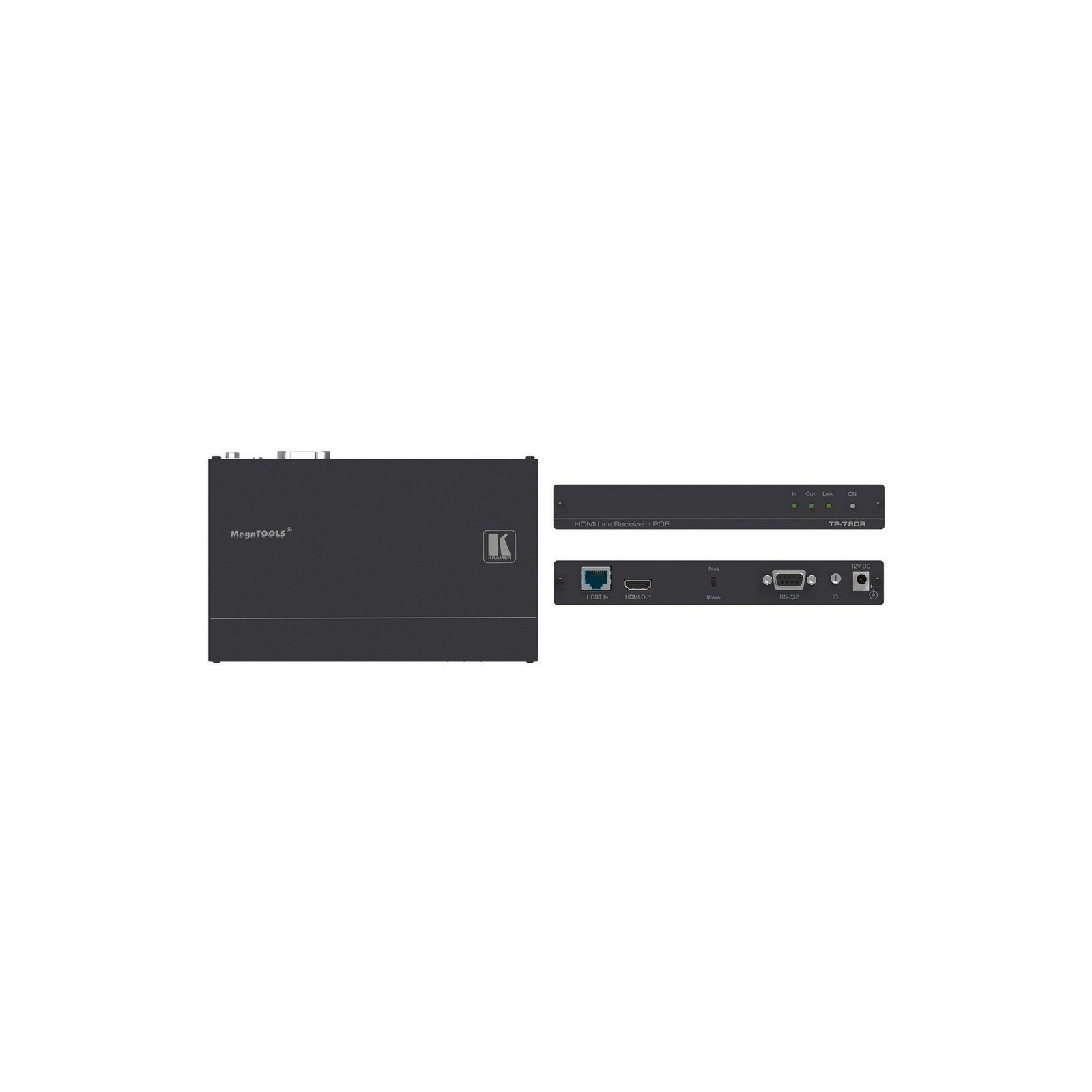 Kramer TP-780R   4K60 HDMI HDCP PoE RS 232 HDBaseT Receiver