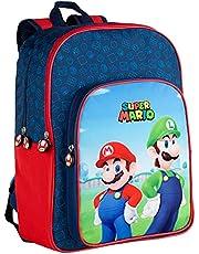 Toybags Bros rugzak, aanpasbaar, Super Mario en Luichi.31 x 42 x 15 cm, meerkleurig, groot (T434-830)