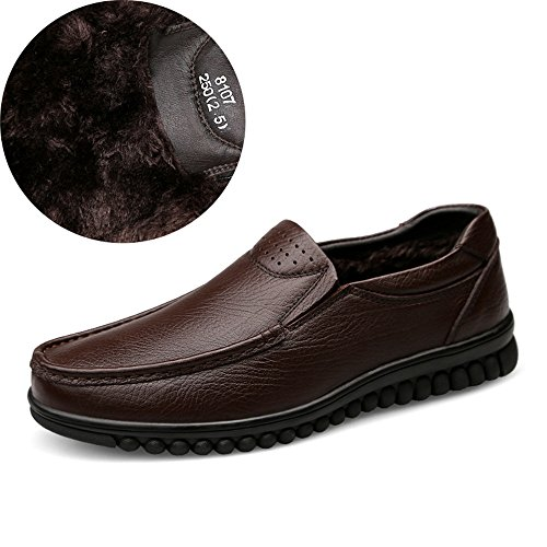 hollywoodiano Mocassini Cricket Brown Uomo Stile in da Pelle Scarpe Velvet da AxXfw7x