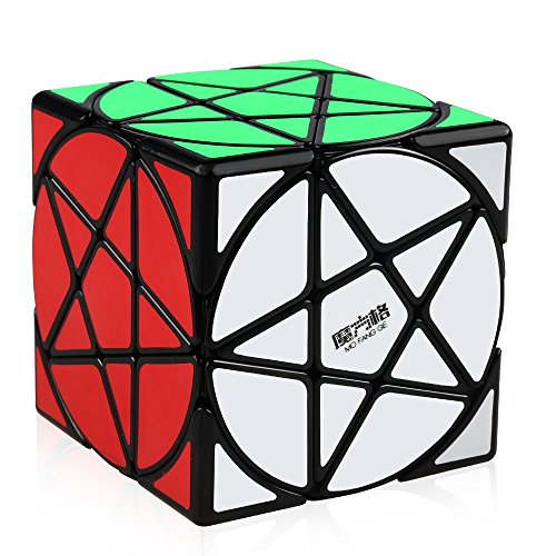 D-FantiX Speed Cube Qiyi MoFangGe Speed Cubes Pentacle Speed Cube Magic Puzzle Cube Black Christmas Gifts