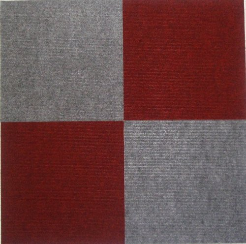 Carpet Tiles Peel And Stick Red 12 Inch 36 Square Feet