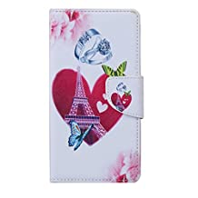 "Topratesell [Kickstand Feature] [Perfect Fit] Alcatel IDOL 3 (5.5 inch) Wallet Case, Luxury Wallet PU Leather Case Flip Cover Built-in Card Slots & Stand For Alcatel OneTouch IDOL 3 (5.5"") (No.13)"
