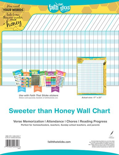Sweeter than Honey Wall Chart (Faith That Sticks Stickers)