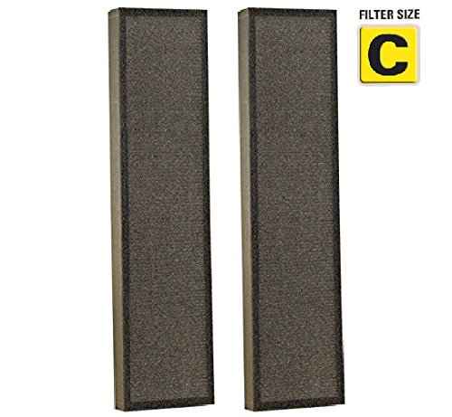 True HEPA Filter Replacement for GermGuardian FLT5000/FLT5111 for AC5000 Series Air Purifier, Filter C By NISPIRA - 2 Filters