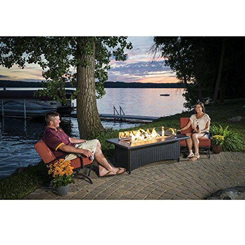 Amazoncom Outdoor Great Room MG1242BLKK Montego Coffee Table
