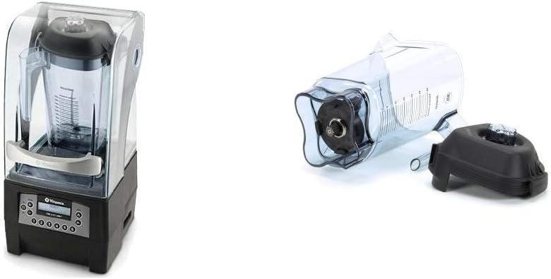 Vitamix 36019 36019-1 Vita-Mix Quiet One Blender 48 oz, Black + 015978 48 Ounce Container Kit