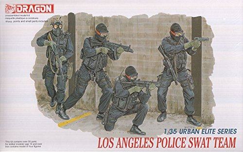 DML6502 1:35 Dragon Los Angeles Police SWAT Team Figure Set [MODEL BUILDING KIT]