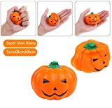 Vigeiya Squishies Halloween Day Pumpkin Food Kawaii Cute Slow Rising Stress Relief Soft Scented Toys Squishy Kids Adult Gift