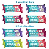 ZEGO All Fruit Variety Pack - Purity Tested, Gluten Free, Allergy Friendly (16 Bar, Just Fruit & Fruit+Chia Variety Pack)