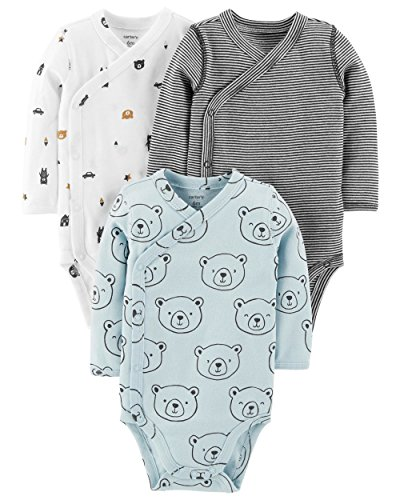Carter's Baby Boys' 3-Pack Side-Snap Bodysuits (6 Months, ()