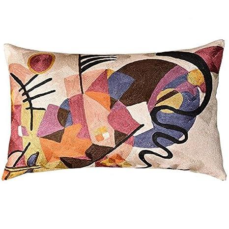 Amazon.com: Lumbar Marfil decorativo almohada cubierta ...