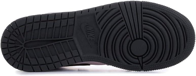 b7d3d1092246d1 Jordan 555112-601  Girls Air Retro 1 Mid Pink-Foam Black White Shoes (4 M  US Big Kid). Jordan 555112-601  Girls Air Retro 1 Mid Pink-Foam Black