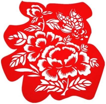 創造的な美しい中空幸運なキャラクター繊細な中国の紙カット装飾