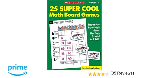 Amazon.com: 25 Super Cool Math Board Games: Easy-to-Play ...