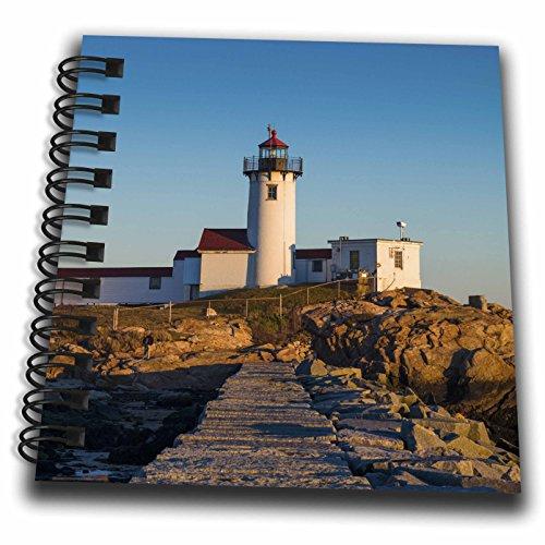 3dRose Danita Delimont - Lighthouses - Massachusetts, Cape Ann, Gloucester, Eastern Point Lighthouse, sunset - Mini Notepad 4 x 4 inch (db_259467_3) (Gloucester Mini)