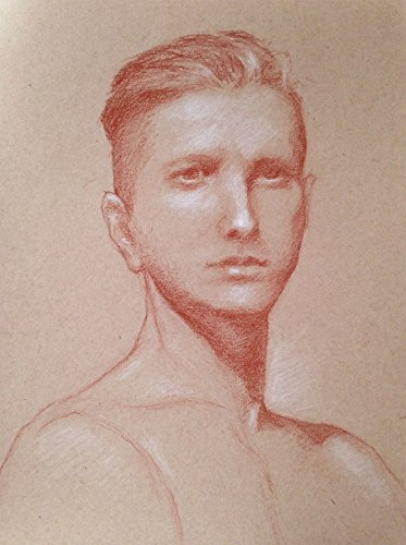 Portrait Drawing of Young Man by