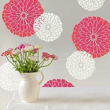 Summer Blossom Floral Wall Art Stencil