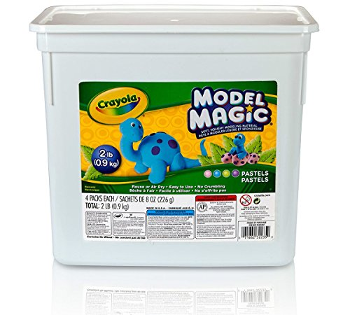Crayola BIN232235 LLC Model Magic Pastel Bucket, 2 lb. - Crayola Clay Magic