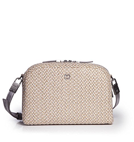 Eric Javits Luxury Fashion Designer Women's Handbag - Squishee Courbe - Frost/White