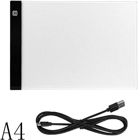 Caja de luz LED A4 ultrafina con alimentación por USB, almohadilla ...