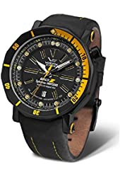 Vostok Europe Big Z 24J Automatic Men's Analog Tritium Tube Black and Yellow Watch Multiple Straps NH35A/6204344