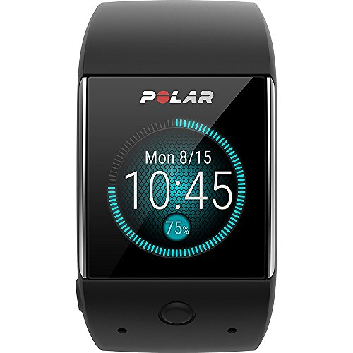 Polar M600 Sports Smart Watch - Black (90063087) w/Extended Warranty Bundle Includes, 1 Year Extended Warranty, Fusion Bluetooth Headphones, Universal Travel Wall Charger & 1 Piece Micro Fiber Cloth by Polar (Image #1)
