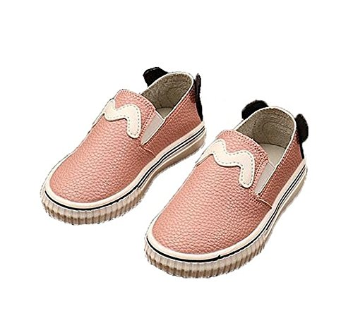 labaqiangj Little Girls/Boys Cartoon Slip On Sneakers Casual Loafers Leather Shoes (Toddler/Little Kid) Pink10 M US Toddler