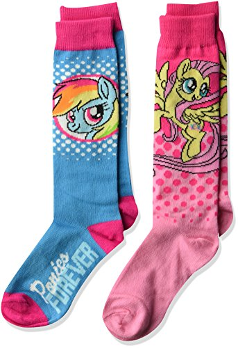 Hasbro Girls My Little Pony 2 Pack Knee High Sock, Patterned Character, Fits Size 6-8.5 Fits Shoe Size 7.5-3.5]()