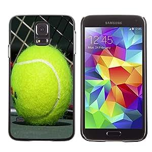 - Tennis Ball - - Monedero pared Design Premium cuero del tir¨®n magn¨¦tico delgado del caso de la cubierta pata de ca FOR Samsung Galaxy S5 I9600 G9009 G9008V Funny House