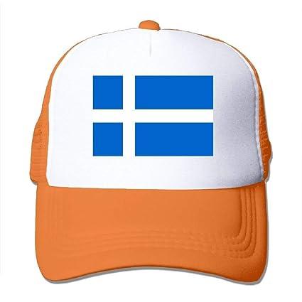 Osmykqe Sombrero de Malla Gorras de béisbol Sombrero de Rejilla Bandera de Islandia Gorra Ajustable de