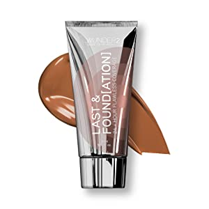 WUNDER2 LAST & FOUNDATION 24+ Hour Flawless Full Coverage Liquid Foundation Makeup, Chocolate