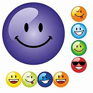Smiley Faces Multi Coloured Praise Stickers